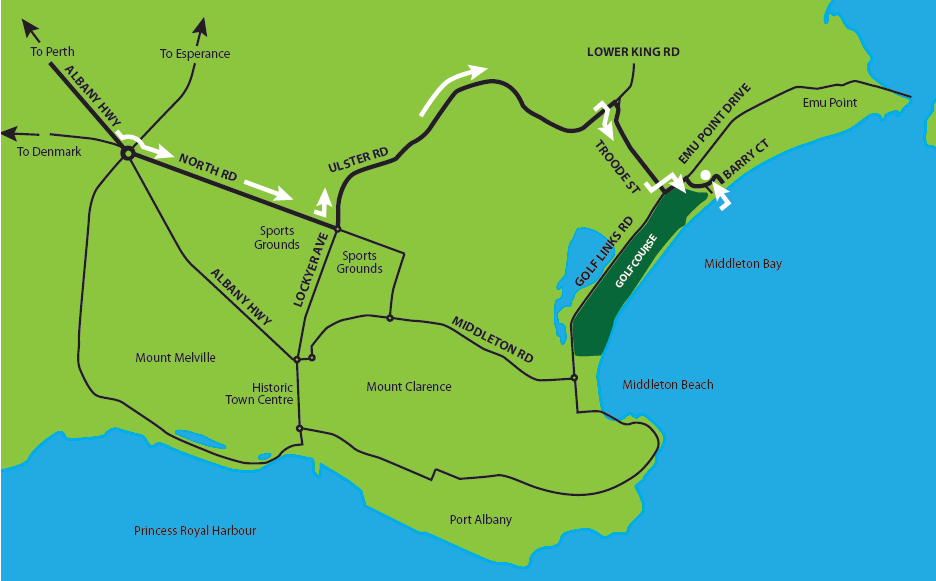 Map Of Western Australia Printable.Contact The Beach House At Bayside Albany Hotel Accommodation